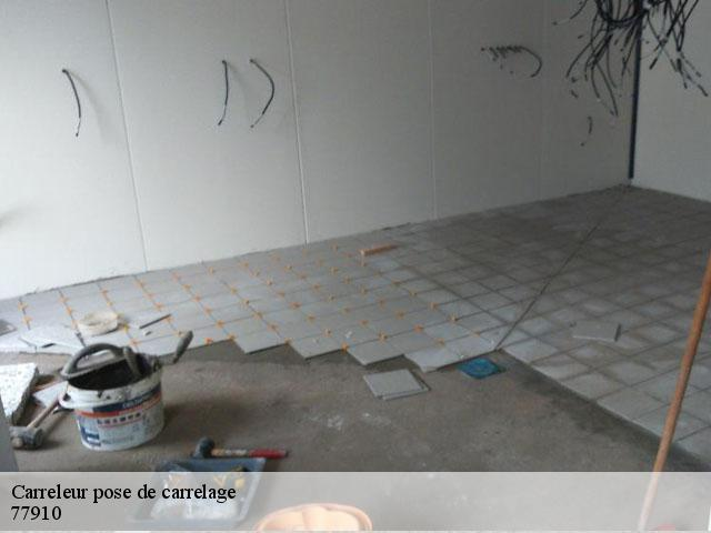 Carreleur pose de carrelage  77910